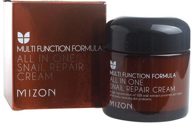 75ML Korean Snail Cosmetics Cream Anti-Wrinkle Anti-aging Face All In One Snail Repair Cream Acne Printed Closed Pores Whitening