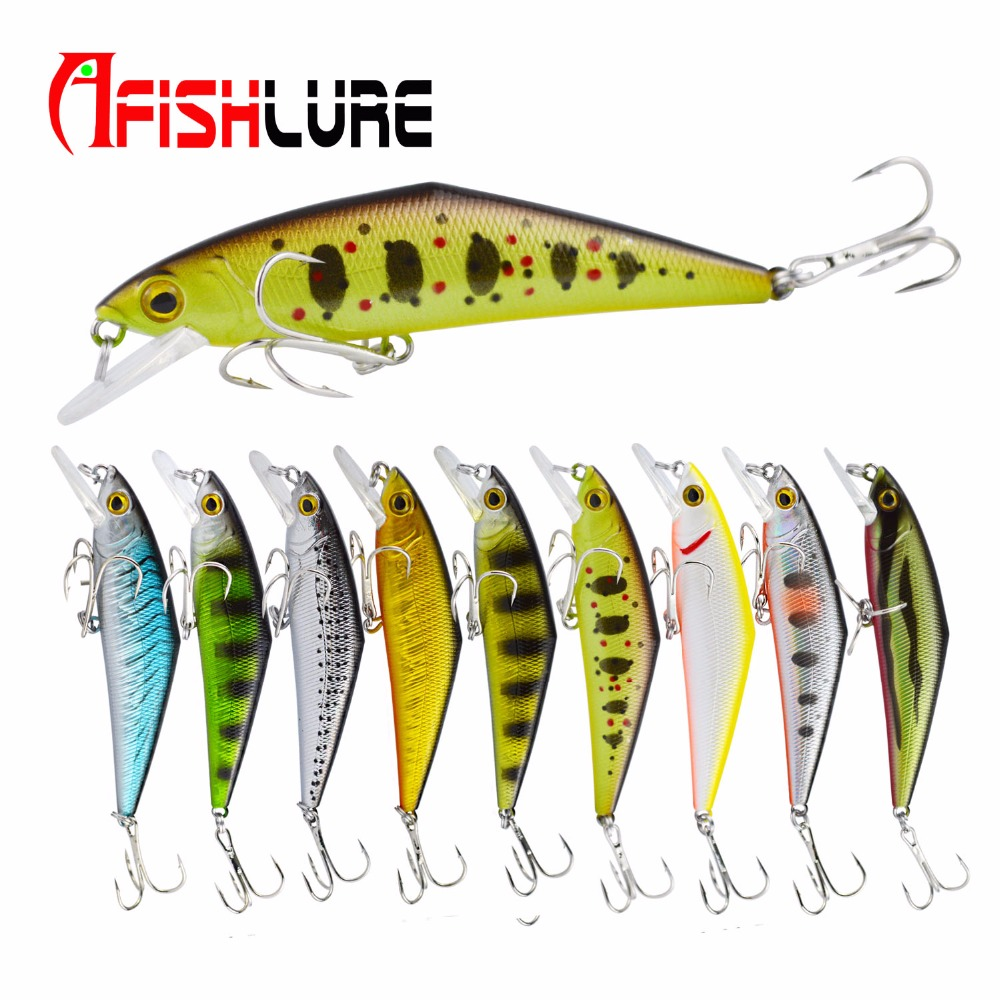 D Type Minnow Hard Bait 85mm/15g D-Contact Fishing Lures with Trebke Hooks Swimbait Artificial Bait Hard Lure for Carp Fishing