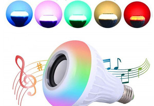 Image 5 - Bluetooth Music Lamp Smart E27  RGB  Wireless Speaker Bulb 220V 12W LED Light Audio Player Dimmable 24 Keys Remote Controller