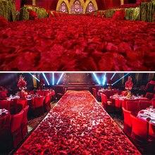 1000pcs 17 Colors Artificial Flower Silk Petals Wedding Flowers Decor Party Decorations Wedding