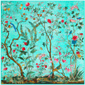 Fashion Super Large Twill Silk Women Scarf 130*130 cm Chinese Style Floral Birds Print Square Scarves High Quality Gift Shawls