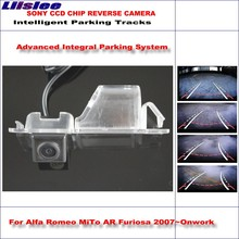 цены Liislee Dynamic Guidance Rear Camera For Alfa Romeo MiTo AR Furiosa / 580 TV Lines HD 860 * 576 Pixels Parking Intelligentized