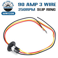 1PCS Wind Power Slip Ring Slip 3 Wire Circuit Slip Ring 30A 600V DC/AC Electric Collector Rings 22*45 mm MW1330