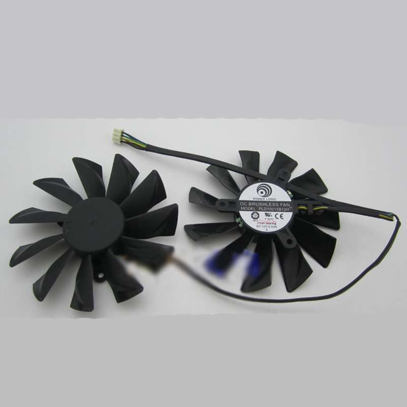 PLD10015B12H for MSI GTX680 VGA COOLER 4 pin 12V 0.55A 94mm cooling fan computer cooler radiator with heatsink heatpipe cooling fan for hd6970 hd6950 grahics card vga cooler