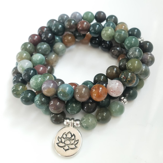 Indian Bloodstone Mala