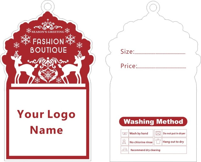 custom print special shape hang tags price label template 013 we