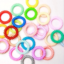 High quality gum for hair Ring women accessories rope candy-colored telephone wire Multi colors 5 pcs/lot