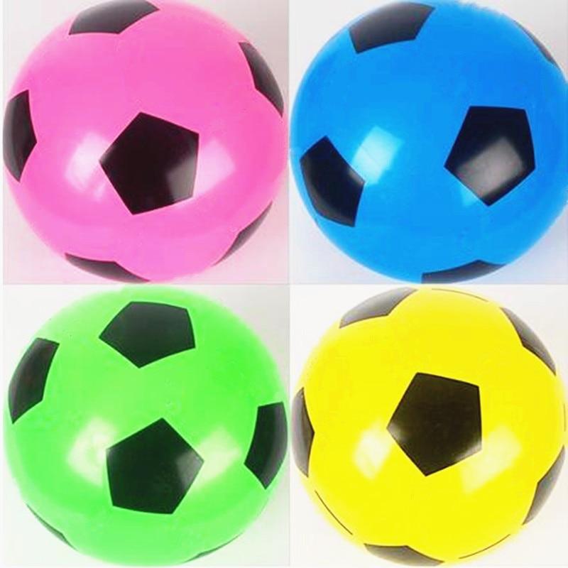 New style 50 pçs lote Futebol Impressão balão balão Redondo Branco Amarelo  Cor Balão Decorações 914e1e59d26c5