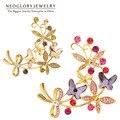 Neoglory cristal austríaco strass broche de borboleta design de jóias novo presente 2017 nova venda quente presente para