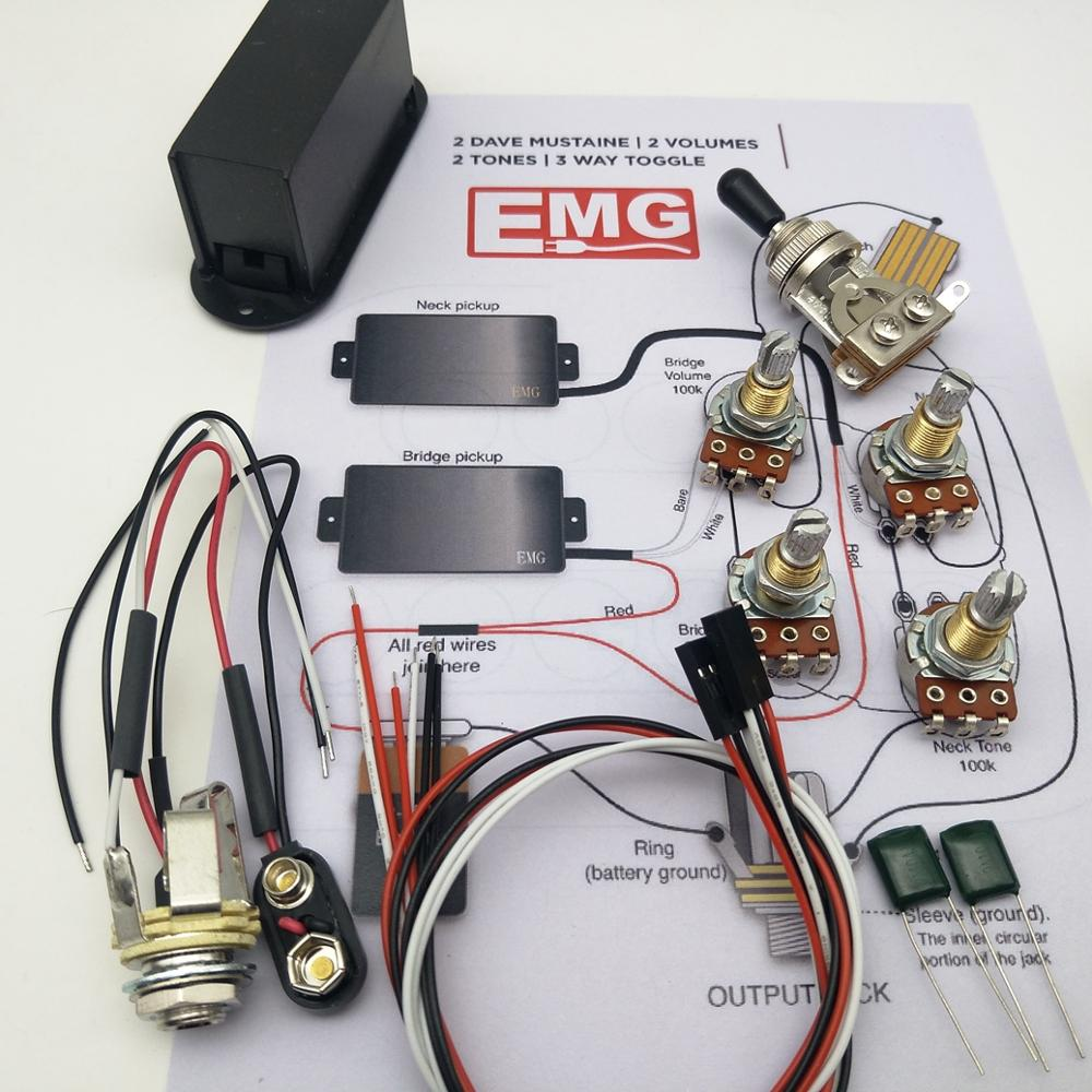 small resolution of emg pickups active pickups electric guitar humbucker pickups with 25k potentiometer accessories installation drawings in guitar parts accessories from