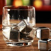 8Pcs Lot Whiskey Wine Stones 304 Stainless Steel Cooler Stone Whiskey Rock Ice Cube Soapstone Glacier