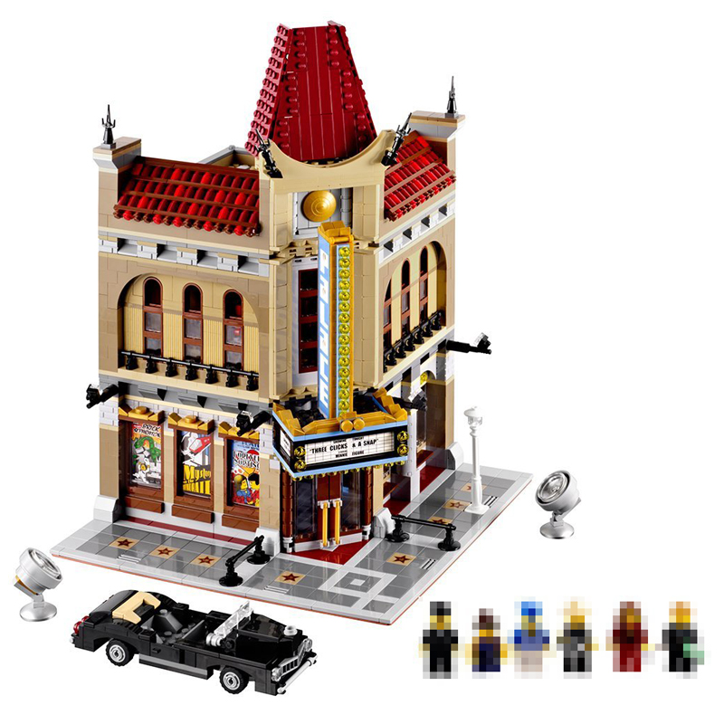 LEPIN 15006 2354pcs City Street Palace Cinema Model Building Blocks set Bricks Toys Compatible 10232 Christmas Gift for children hot sembo block compatible lepin architecture city building blocks led light bricks apple flagship store toys for children gift