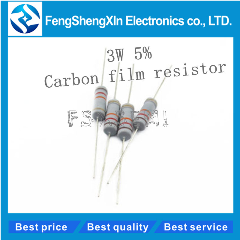 uxcell 20Pcs 130 Ohm Resistor Axial Lead 3W 5/% Tolerance Metal Oxide Film Resistors Flame Proof for DIY Electronic Projects and Experiments