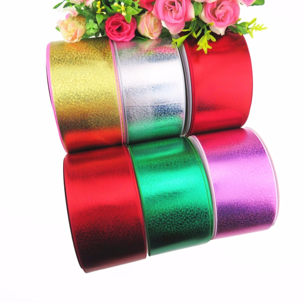 100Y lot 75mm 3 full foil grosgrain ribbon for bows accessories welcome custom order