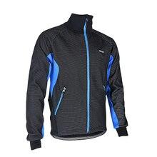Thermal Cycling Jacket Winter Warm Up Fleece Bicycle Clothing Windproof Waterproof Sports Coat MTB Bike Jersey Size M To XXXL