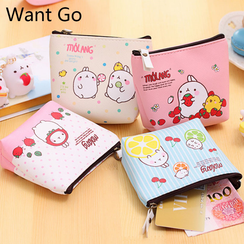 Want Go New Sweet Cartoon Children Coin Purses Ladies Leather Zipper Coin Pouches Kids Mini Wallets Bag Small Purses For Girls