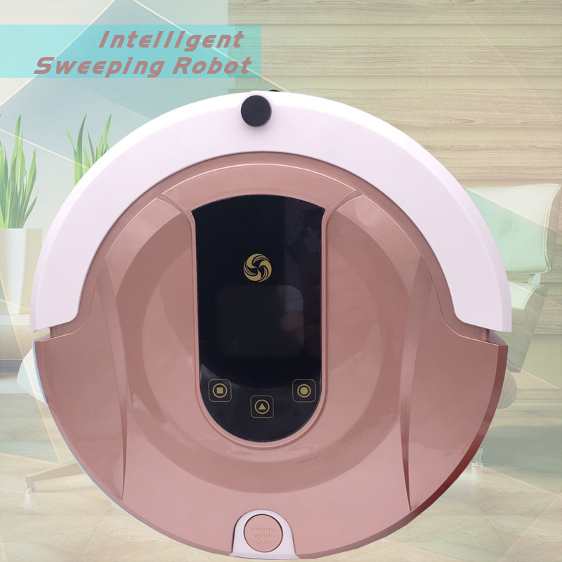 FR-8 Robot Vacuum Cleaner House <font><b>Carpet</b></font> Floor Anti Collision Anti Fall,Self Charge,Remote Control,Auto Clean,Time schedule