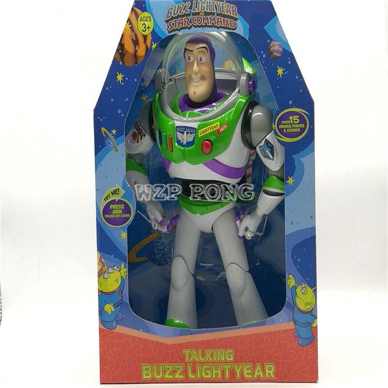 Toy Story 3 Anime parler Buzz Lightyear Figure jouets lumières voix parler anglais Joint mobile figurines d'action enfants cadeau