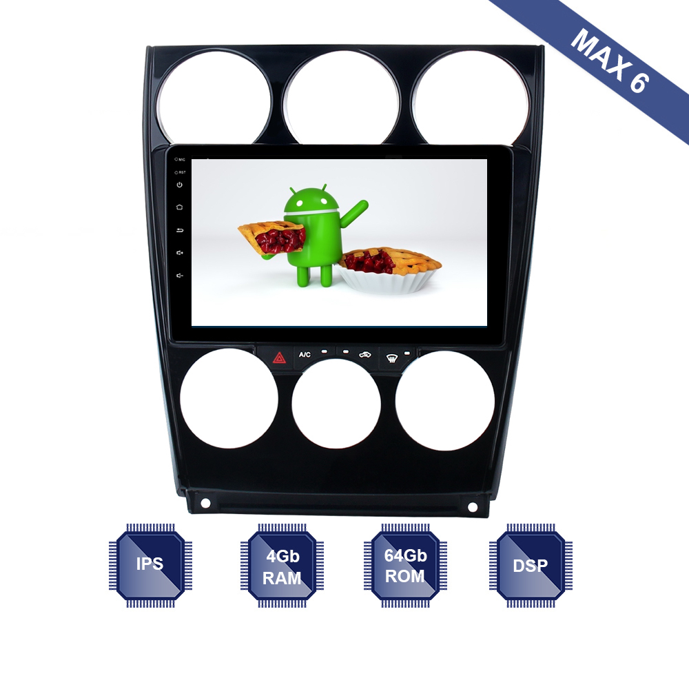 Android 9 0 Car Radio 2 Din GPS Navi for Mazda 6 2006 2007 2008 2009
