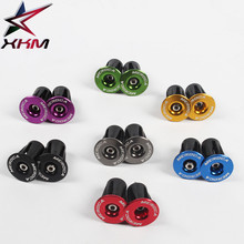 1 pair of bicycle handlebar plugs super light 19g expansion plug for 22-24mm 7 color aluminum alloy mtb road bike part