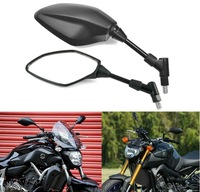 10MM Bolt RearView Mirrors For Yamaha MT25 MT03 MT07 FZ 07 MT09 FZ 09 FJ 09 MT10 MT25 FZ 10 FZ8 FZ6 Fazer FZ6R XJ6 XSR700 XSR90