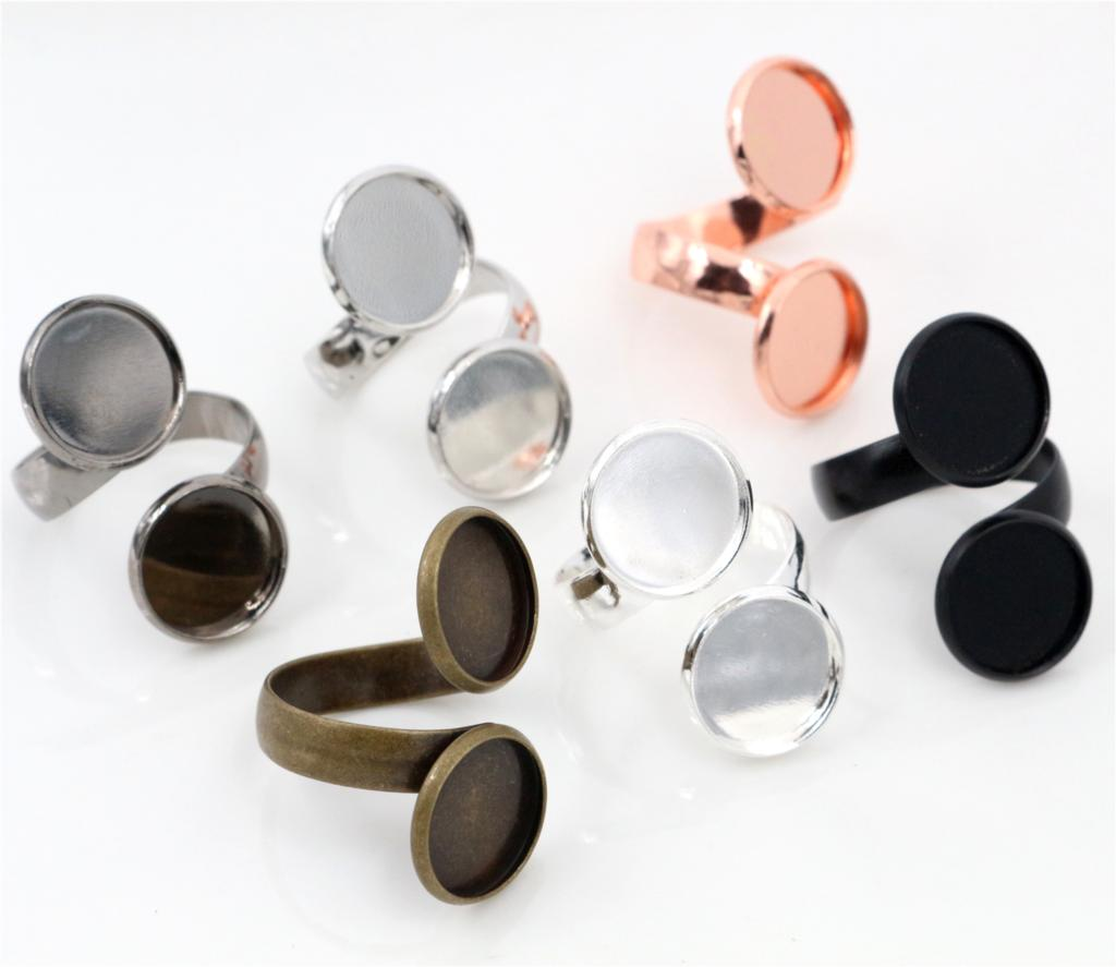 12mm 5pcs/Lot Classic 6 Colors Plated Brass Adjustable Ring Settings Blank/Base,Fit 12mm Glass Cabochons,Buttons;Ring Bezels12mm 5pcs/Lot Classic 6 Colors Plated Brass Adjustable Ring Settings Blank/Base,Fit 12mm Glass Cabochons,Buttons;Ring Bezels