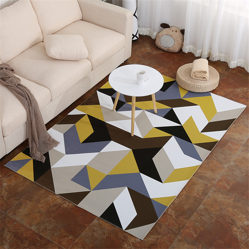 Nordic Rug Geometric Carpet Kids Room Doormat Prayer Rug Doormat Large Area Rugs Rectangle Flannel Carpet Rug for Living Room