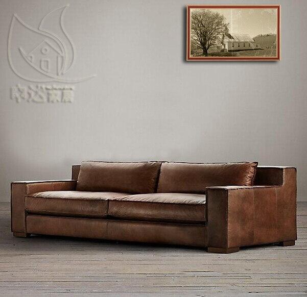 Sofa Cuero Ikea.American Village Vintage Sillon Frances Aceite De Cera De