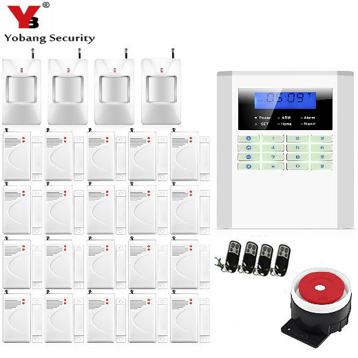 YobangSecurity Home Security Wireless GSM PSTN Alarm System English Russian Spanish French Italian Czech Portuguese Voice 433MHz yobangsecurity russian spanish french italian czech portuguese alarm gsm sms home burglar security wireless gsm alarm system