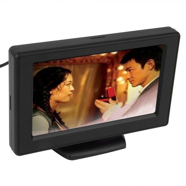 """4.3 """"TFT LCD Monitores para DVD GPS Câmera Reversa De Backup câmera de Visão Traseira Do Carro Do Veículo de condução acessórios"""