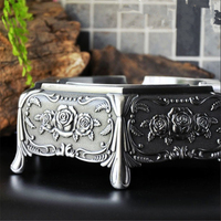 High Quality European Ashtray Smoking Accessories Zinc Alloy Ashtray Home Office Desk Decoration