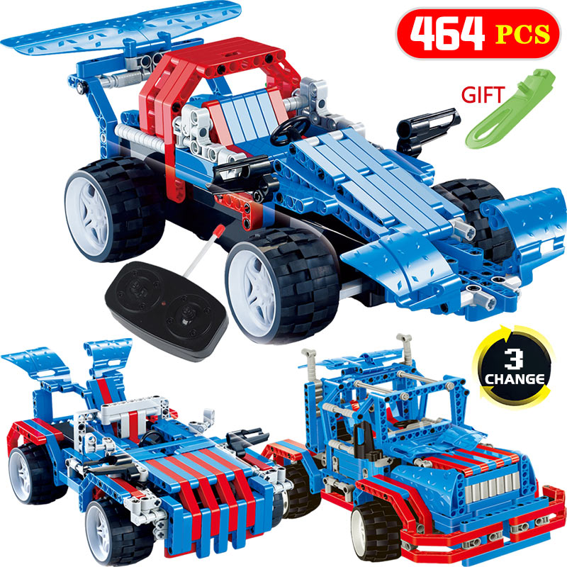 464PCS Bricks Technic Transformtion RC Car Blocks LegoINGlys Vehicle Mirage Storm Racing Cars DIY Toys For Children Gift 2 in 1 rc car compatible legoinglys radio technical vehicle green suv control blocks assembled blocks children toys gift