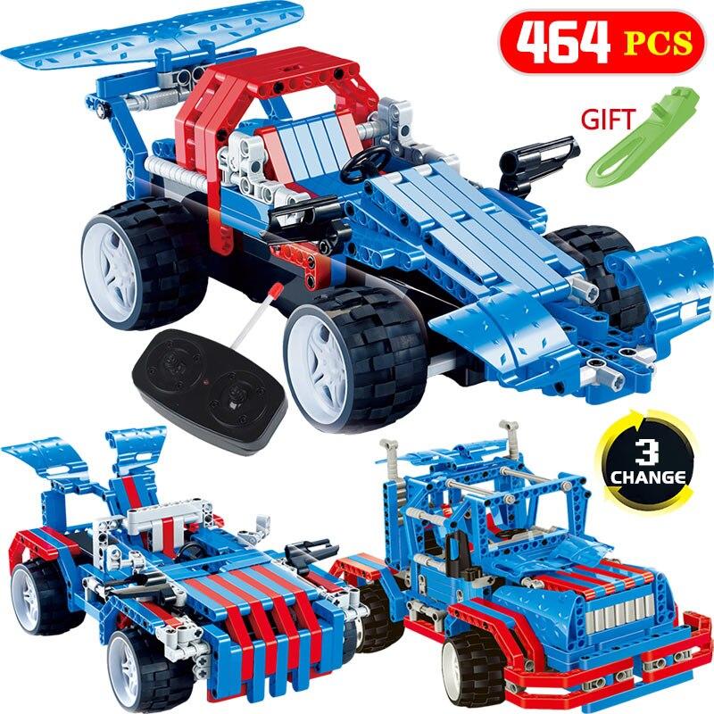 464 pièces Briques Technique Transformtion Voiture RC Blocs LegoINGlys Véhicule Mirage Tempête Voitures De Course bricolage Jouets Pour Enfants Cadeau