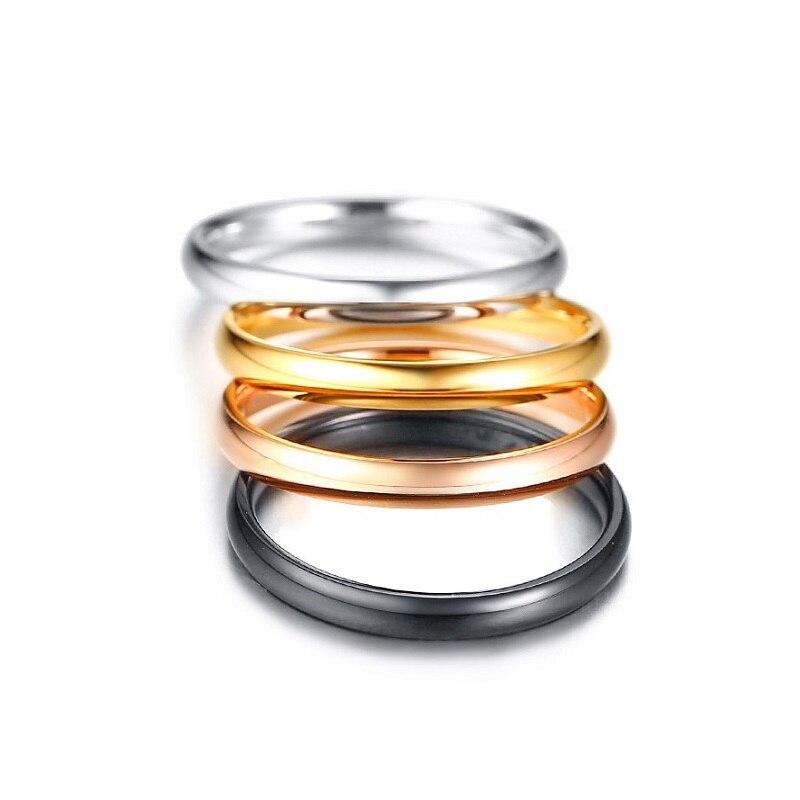 Купить высококачественные кольца из нержавеющей стали 3 мм для женщин