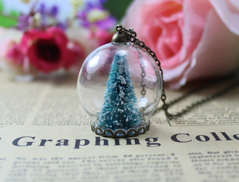 Pcs Mm Christmas Tree Snow Globe Necklacewishing Bottle Pendanthandmade Bottle Necklace In Chain Necklaces From Jewelry Accessories On Aliexpress Com