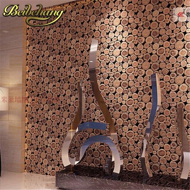beibehang wood wall wallpaper birch tree non woven woods. Black Bedroom Furniture Sets. Home Design Ideas