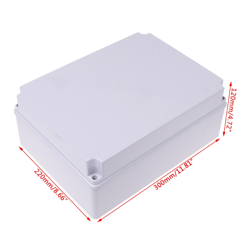 OOTDTY High Quality 300x220x120mm ABS Enclosure Junction Box Adaptable IP55 Waterproof free shipping 1piece lot top quality 100% aluminium material waterproof ip67 standard aluminium junction box 120 120 82mm