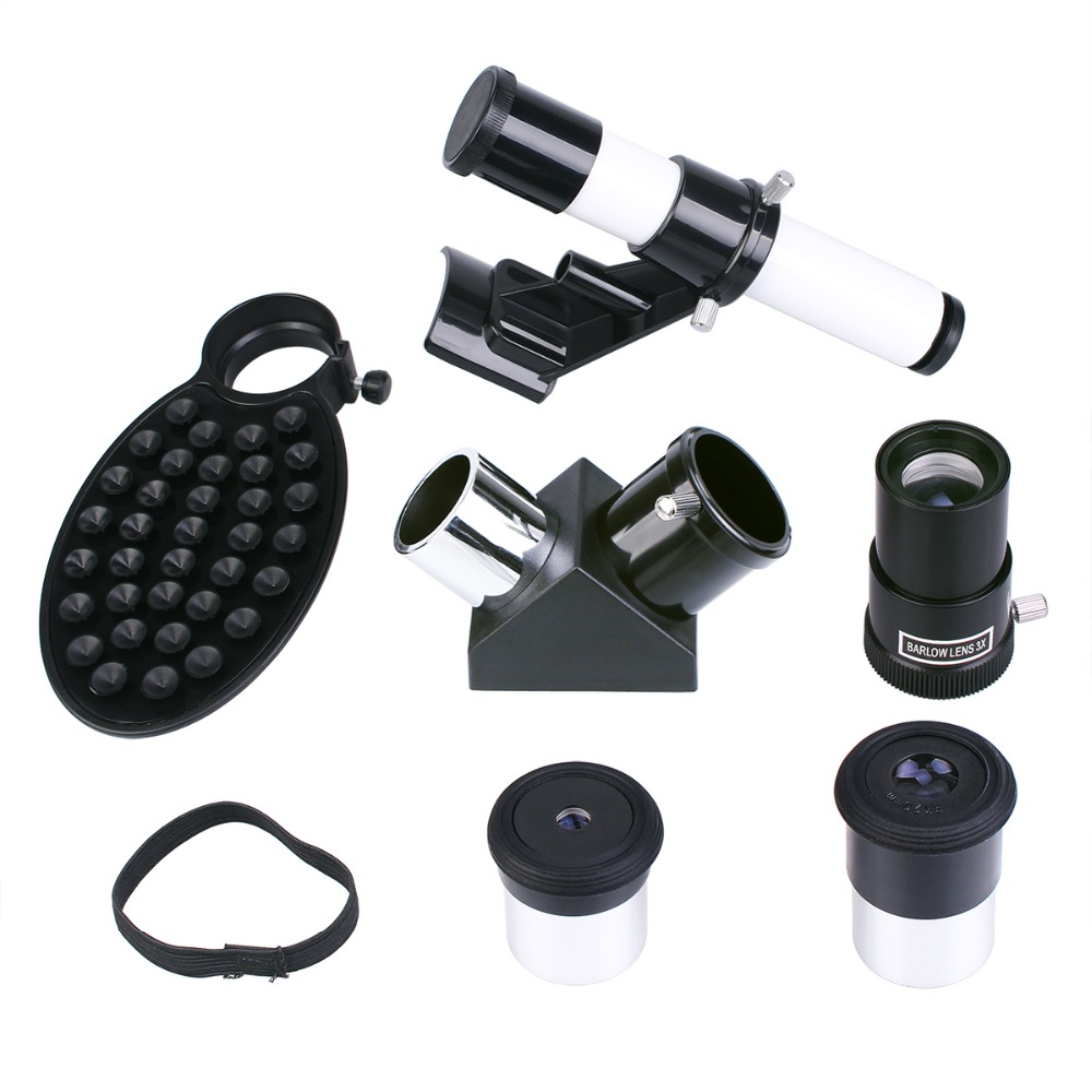 1 25 Accessory Kit 4 20 Kellner Eyepiece 5x20 Finder Scope Barlow Lens 90 Degree Mirrors