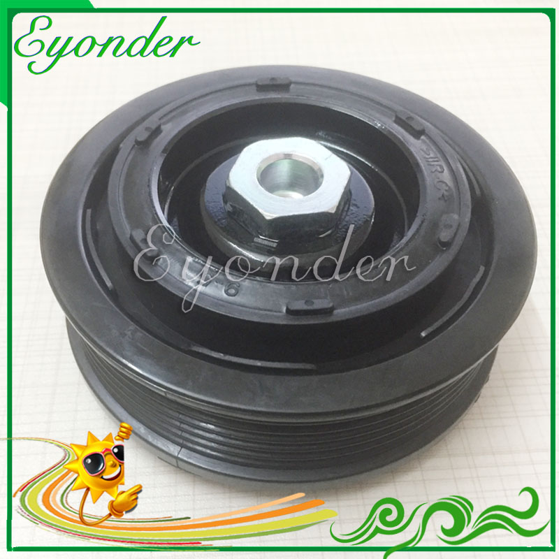 AC A/C Cooling Compressor Pump Electromagnetic Clutch Assembly Pulley Hub Cover for Volkswagen AMAROK T5 S1B 2.0 TDI 7E0820803 ac a c air conditioner corolla for audi a4 for mercedes benz new electric compressor magnetic clutch hub removing remove tool