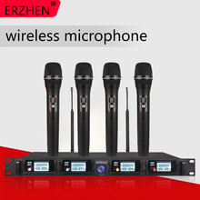 4 channel Wireless microphone system 8000G professional UHF channels dynamic karaoke