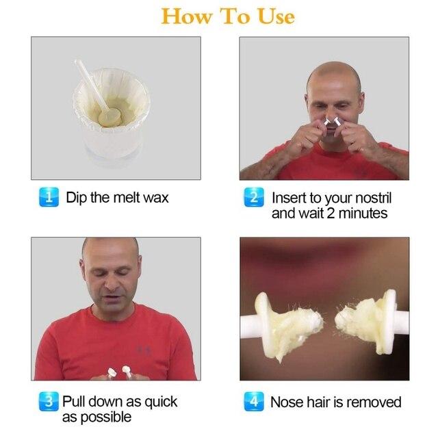 Portable Nez Épilation Cire Kit Oreille Kit De Cire Dépilation Indolore Facile Mens Nasale Épilation Outil Nez Tondeuse À Cheveux