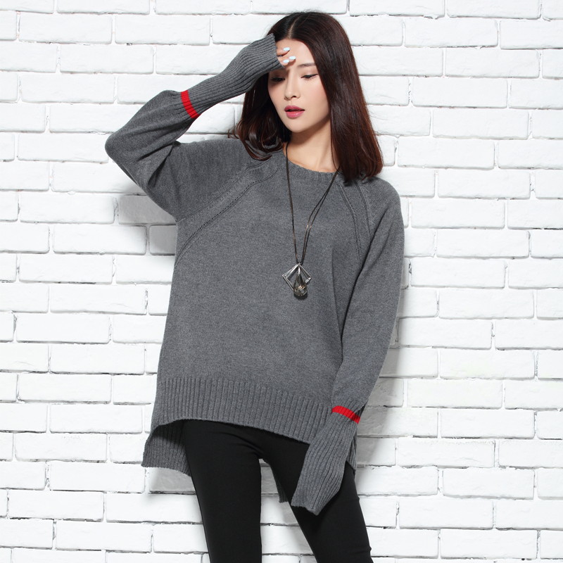 2017 o-neck sweater female short design pullover sweater women loose casual plus size sweater ...