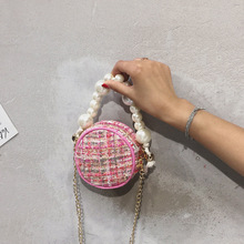 New Round Pear Small Bag 2019 Fashion Straw Weaving Crossbody Shoulder Bag Women Handbags Circular Muti-Color Tote Bags Women 2018 new arrival round circular acrylic women shoulder evening bag ball shape solid fashion brand new design handbags pearl bags