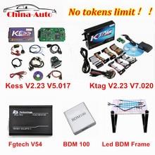 Online version KESS V5.017 V2.23 + KTAG V7.020 V2.23+ FGTECH Galletto V54 + bdm100 + LED BDM Frame K tag FG TECH ECU Chip Tuning недорого