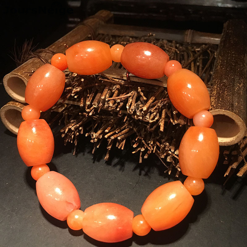 Wholesale Tianwan Emperor Yellow Guilin Chicken blood Natural Stone Bracelets Barrel Beads Single lap Bracelets Simple Jewelry сумка emperor mk20380 2014