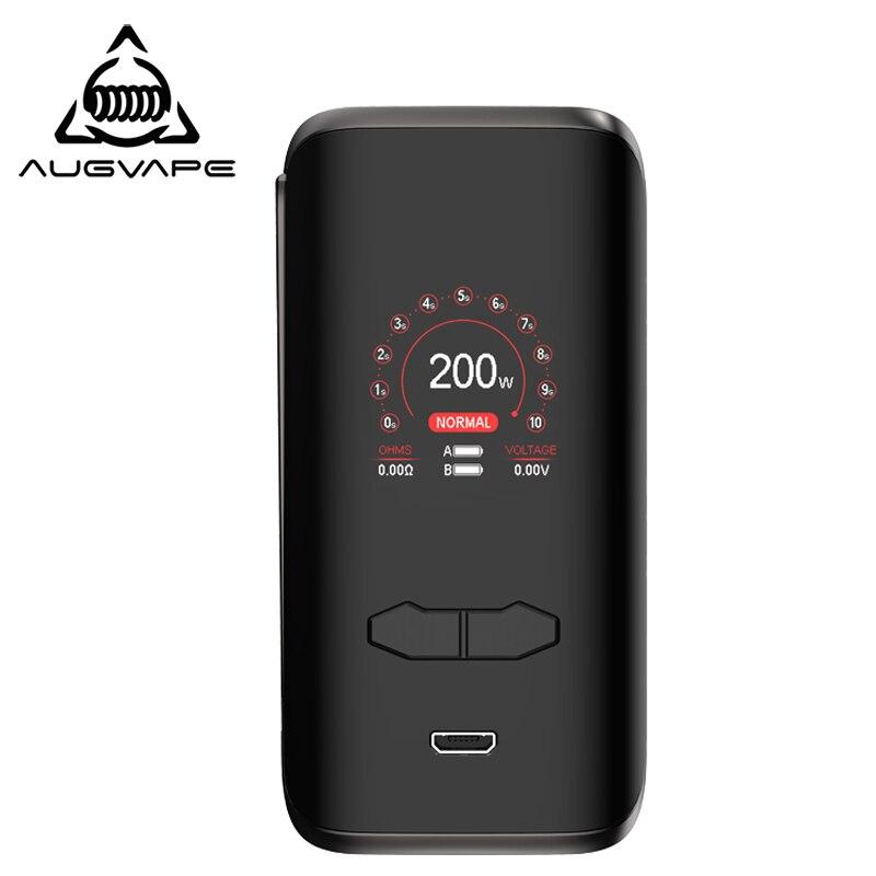 Augvape VX200 boîte Mod 200w 1.3 pouces affichage double 18650 batterie contrôle de température grand bouton d'incendie Mods de cigarettes électroniques