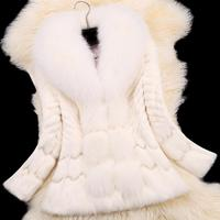 2015 Autumn Winter Coat Warm New Silver Fox Fur Coat Outerwear Womens Fashion Fur Coat Plus
