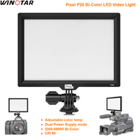 PixeL P20 LED Video Light LCD Display Bi Color & Dimmable Slim DSLR Studio LED Lamp Panel for Canon Nikon Camera DV Camcorder