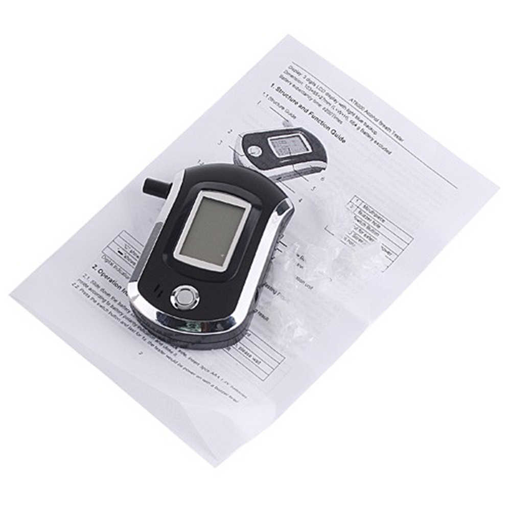 AT6000 Professional Alcohol Tester With BAC Alarm Function Alcoholometer Alcohol Meter Digital LCD Backlight Breathalyzer