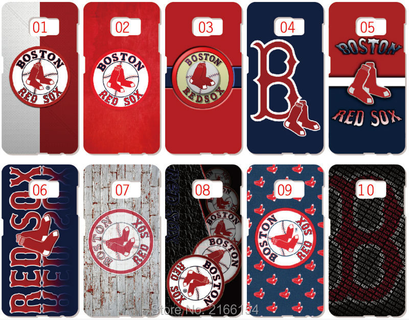 Lot Boston Red Sox Painting plastic Hard Cover For Samsung Galaxy S3 S4 S5 Mini S6 S7 Edge Plus Note 2 3 4 5 Mobile Cell Case